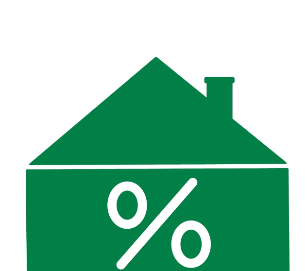 House with % sign