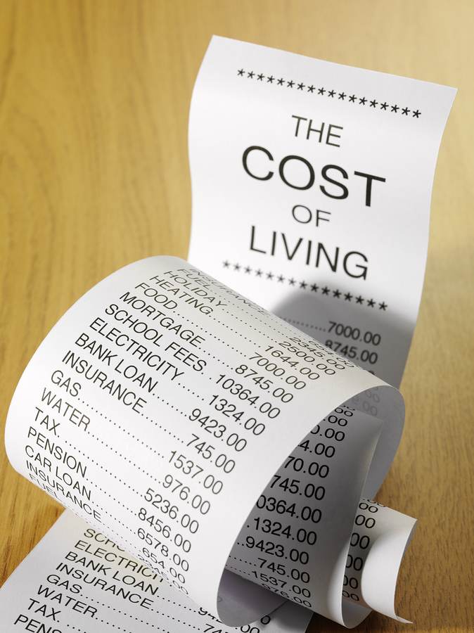 Effects of the high cost of living