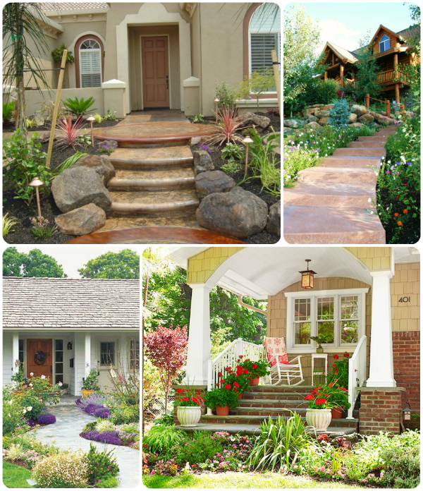 Framing out your walkaway with landscaping