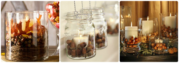 Acorns and candles