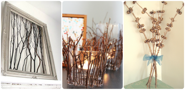 decorating with sticks