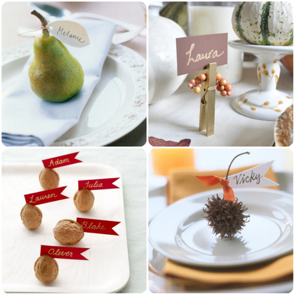 Simple placecard holders for Thanksgiving