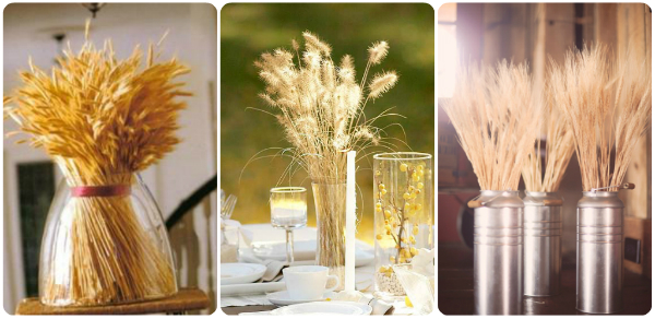 Wheat centerpieces for Thanksgiving