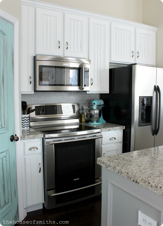Blue and White Kitchen remodel - thehouseofsmiths.com