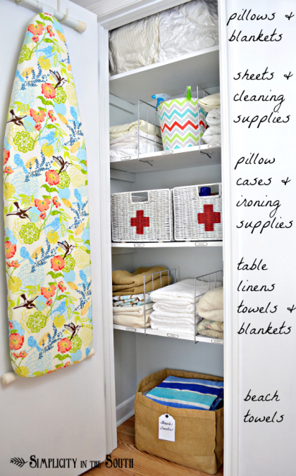 Ideas-for-an-organized-linen-closet-Simplicity-In-The-South.