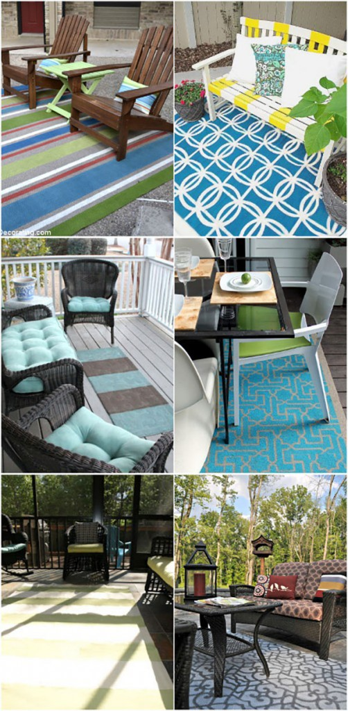 painted outdoor rugs