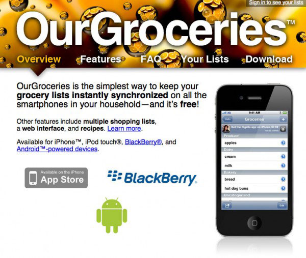 Our-groceries-app