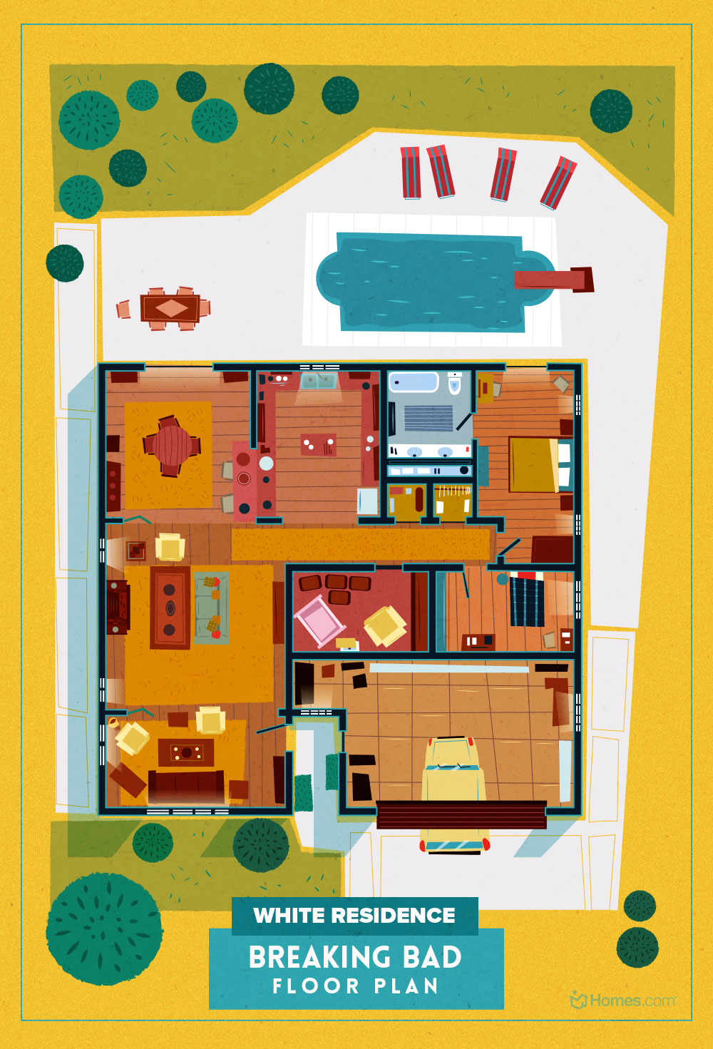 8 Home Floor Plans From Cult Tv Shows Homes Com