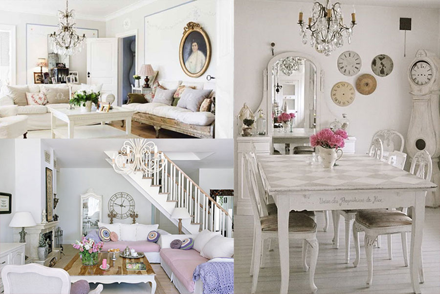 Furniture style guide for Shabby chic blog italiani