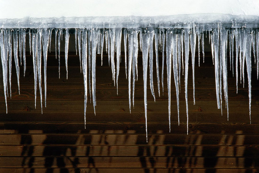 winter wear and tear: icicles