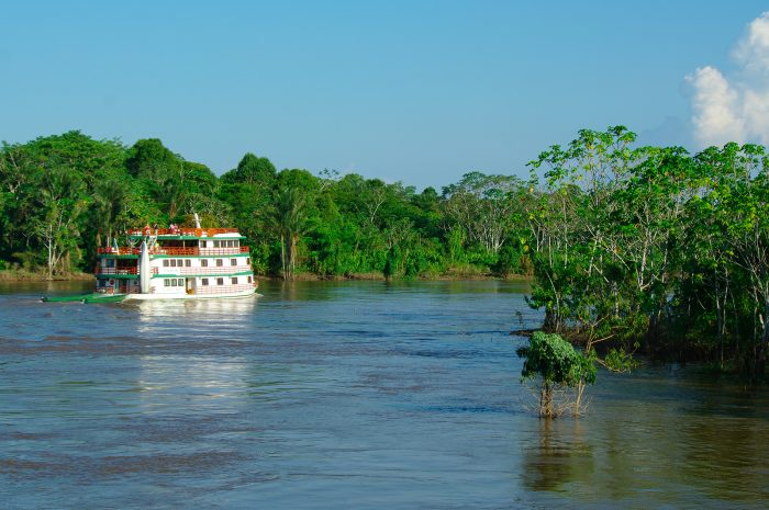 Boat on the Amazon River.